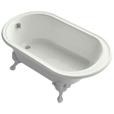 Iron Works Historic 5.5 ft. Reversible Drain Soaking Tub in Dune