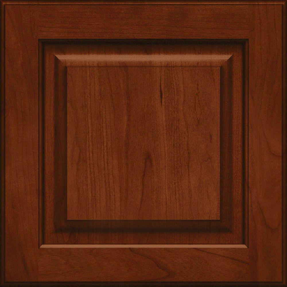 KraftMaid 15x15 in. Cabinet Door Sample in Piermont Cherry Square ...