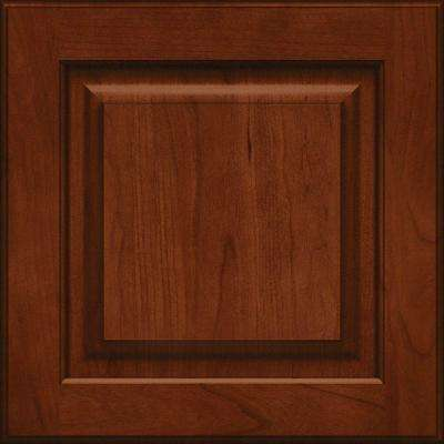 15x15 in. Cabinet Door Sample in Piermont Cherry Square with Autumn Blush