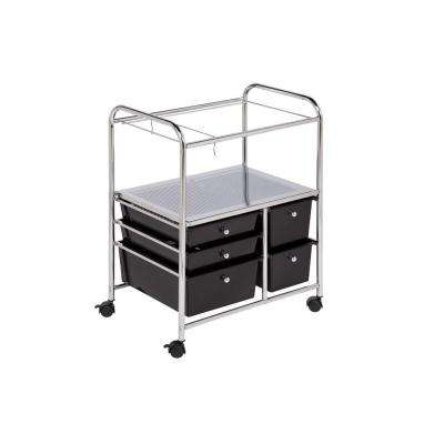 5-Drawer Hanging File Cart