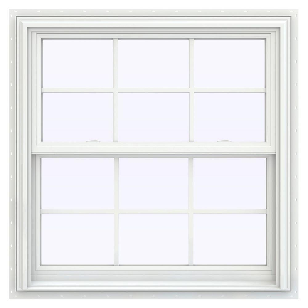 Double Hung Windows With Grids : Jeld wen in v series double hung