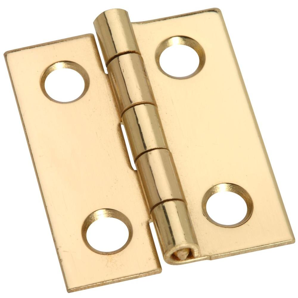 Stanley-National Hardware 1 in. Solid Brass Middle Hinge