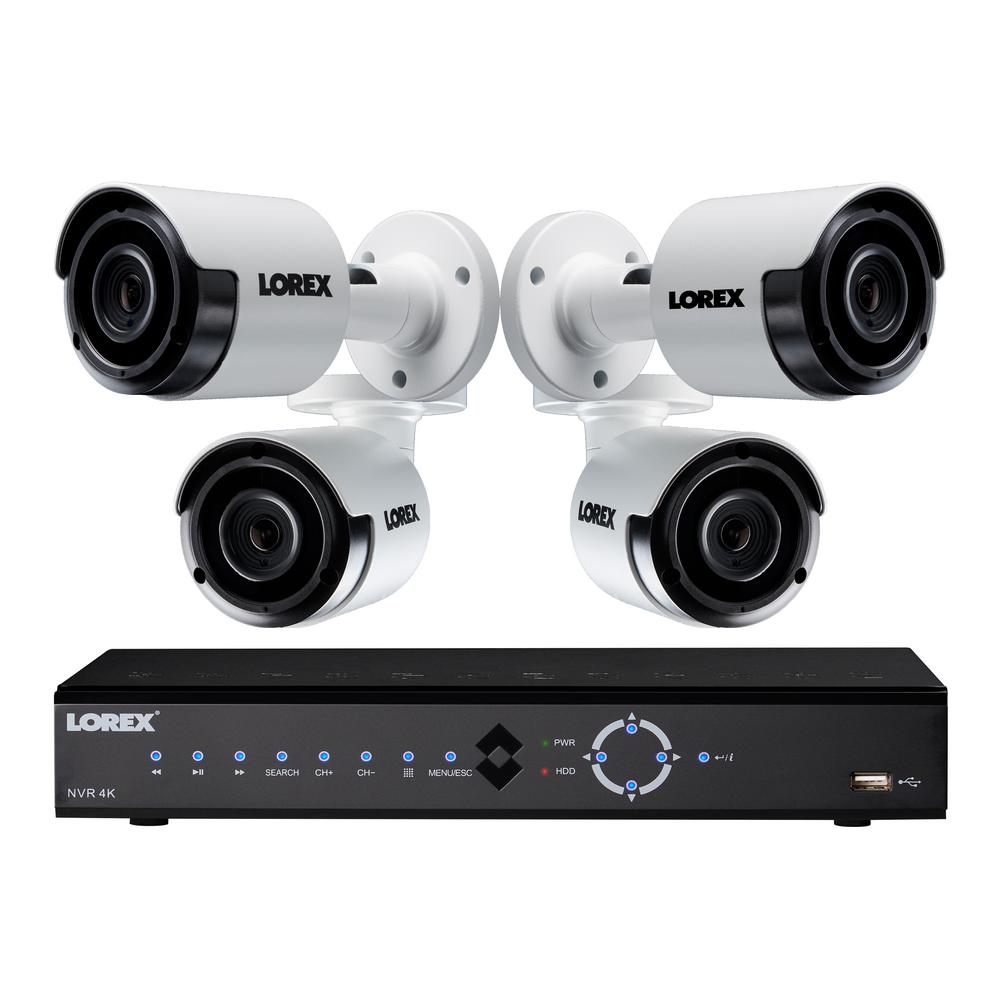 Lorex 8-Channel 4K 2TB NVR Surveillance System with 4 Bullet Cameras
