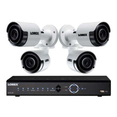 8-Channel 4K 2TB NVR Surveillance System with 4 Bullet Cameras