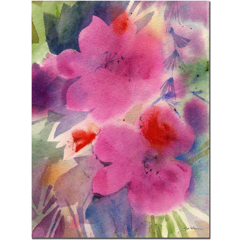 14 in. x 19 in. Pink Blossoms Canvas Art