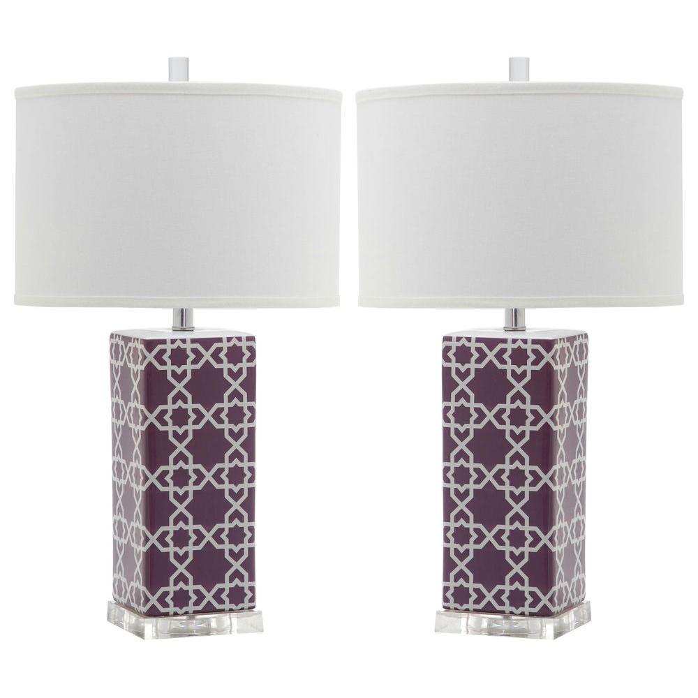 Light Purple Table Lamp (Set Of 2)