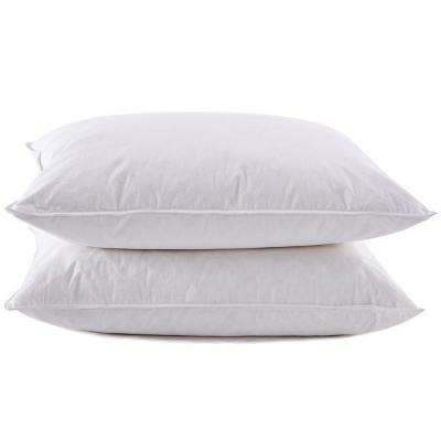 Puredown White Goose Feather and Down Pillow in King (Set of 2)