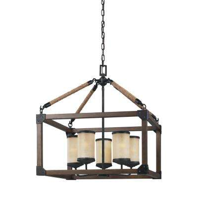 Dunning 5-Light Stardust Chandelier with LED Bulbs