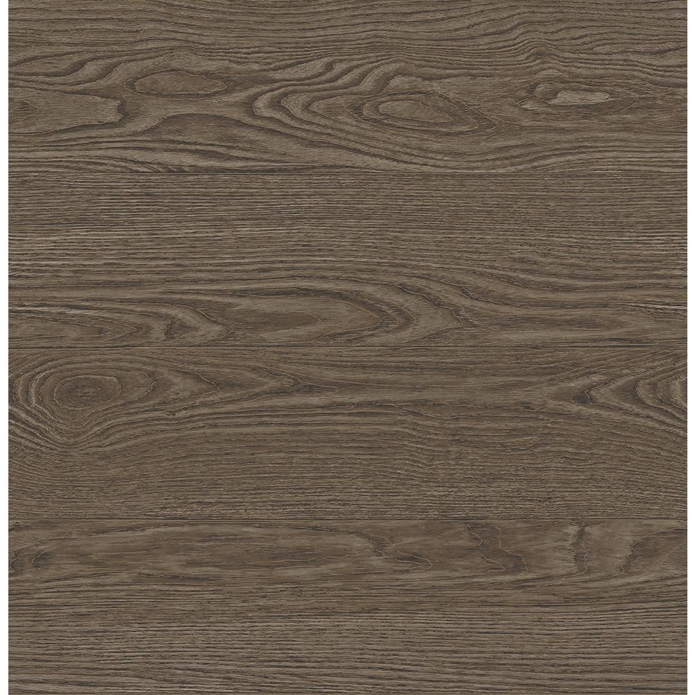A-Street Salvaged Wood Brown Plank Wallpaper 2540-24029