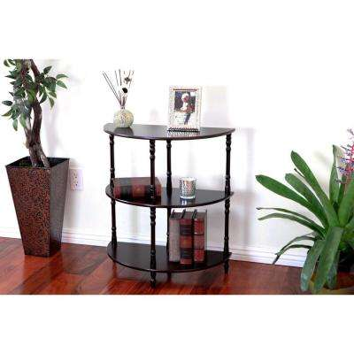 Espresso 3-Tier End Table