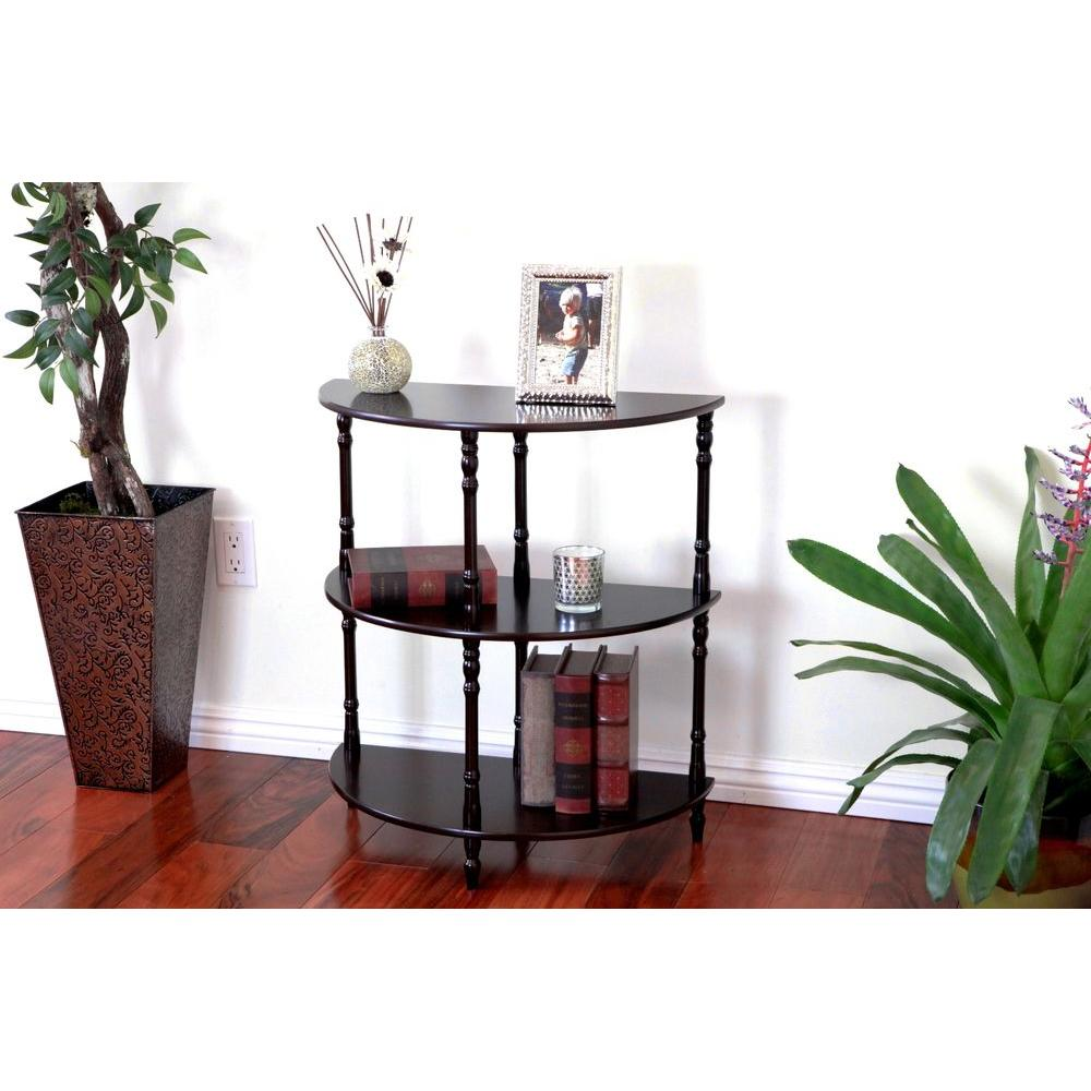 MegaHome Espresso 3 Tier End Table