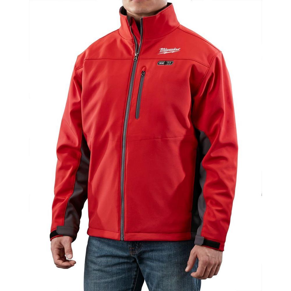 Medium M12 12-Volt Lithium-Ion Cordless Red Heated Jacket (Jacket Only)