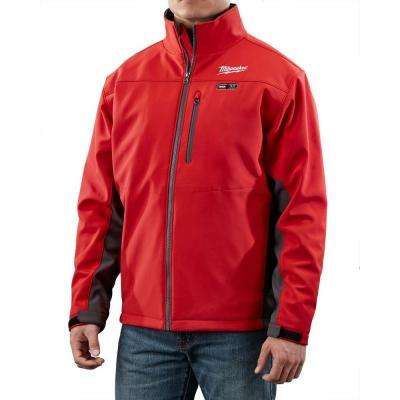 Small M12 12-Volt Lithium-Ion Cordless Red Heated Jacket (Jacket Only)
