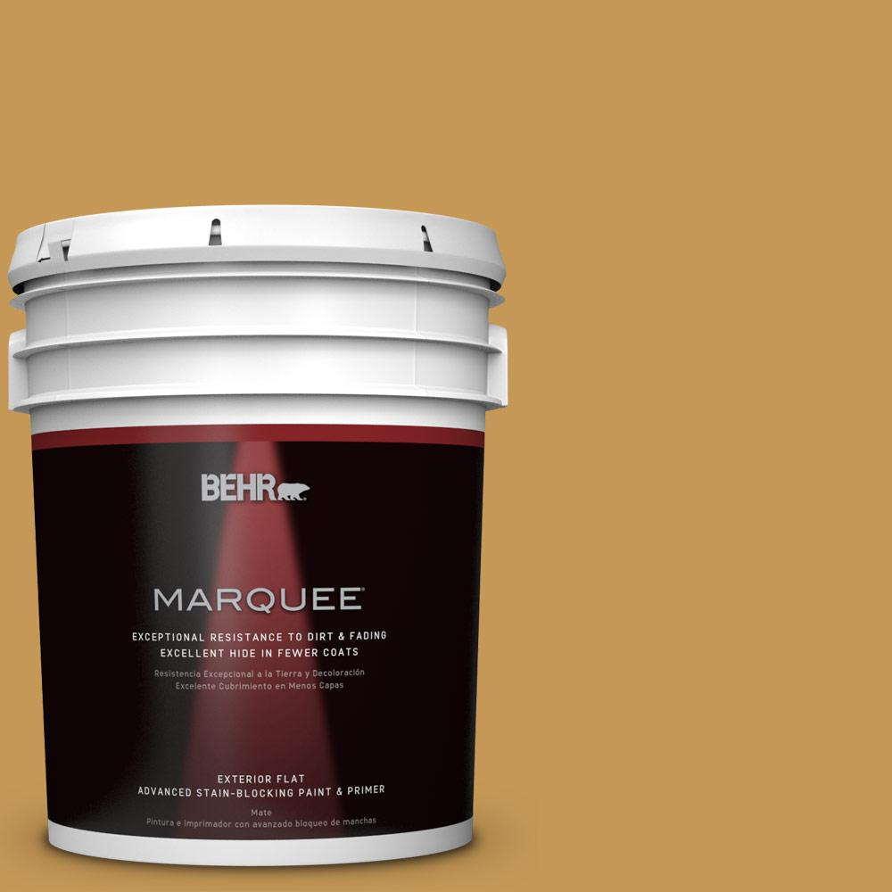 5-gal. #PMD-104 Amber Glass Flat Exterior Paint