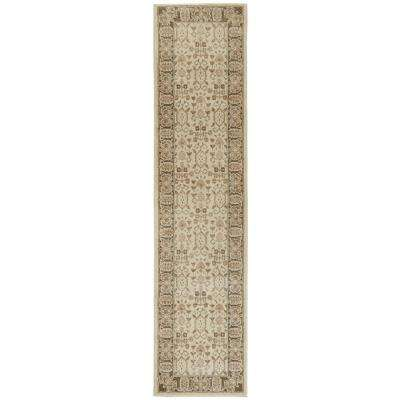 Gianna Beige 2 ft. x 8 ft. Runner Rug