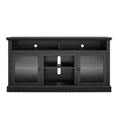 Nashville 62 in. Black Particle Board TV Stand Fits TVs Up to 65 in. with Cable Management