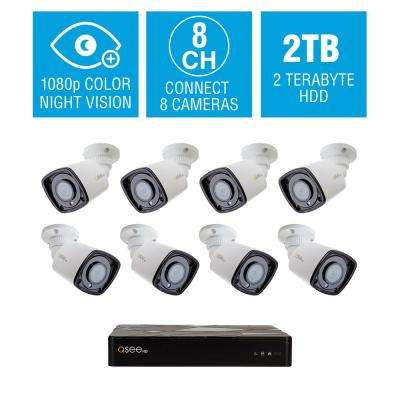8-Channel 4K 2TB NVR Surveillance System with 1080P 8-Starlight Bullet Cameras