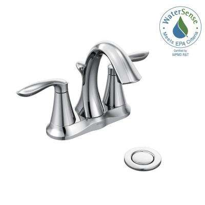 Eva 4 in. Centerset 2-Handle High-Arc Bathroom Faucet in Chrome