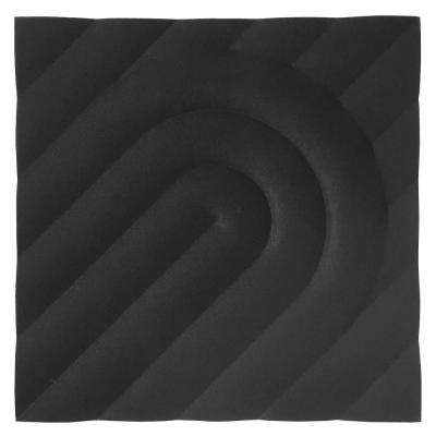 FeltForms 24 in. W x 24 in. L x 2 in. H Black Acoustic Insulation Deco Panels (4-Pack)
