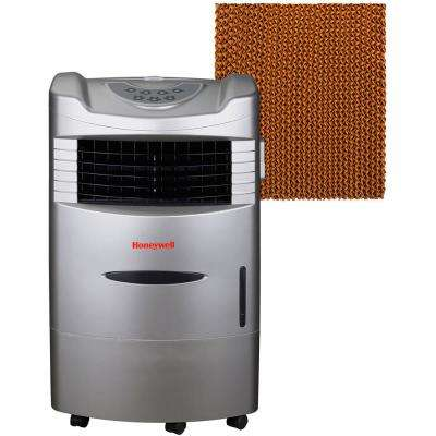 470 CFM 3 Speed Portable Evaporative Air Cooler with Remote Control in Silver for 280 Sq. Ft.