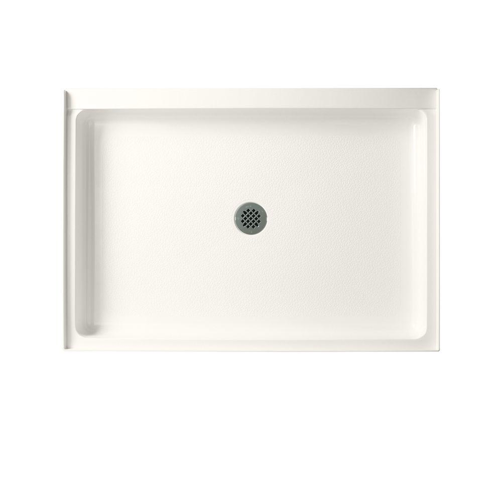 Swan 32 in. x 48 in. Fiberglass Single Threshold Shower Floor in Bisque