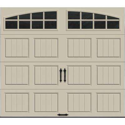 Gallery Collection 8 ft. x 7 ft. 6.5 R-Value Insulated Desert Tan Garage Door with Arch Window