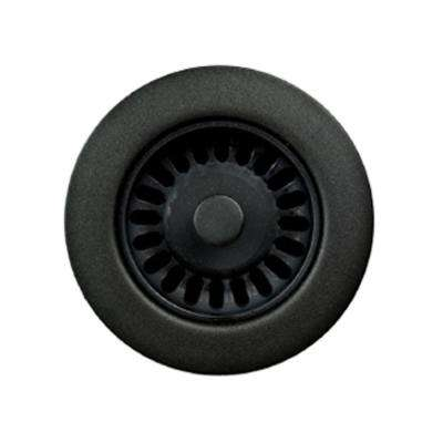 3.5 in. Opening Matte Black Disposal Flange
