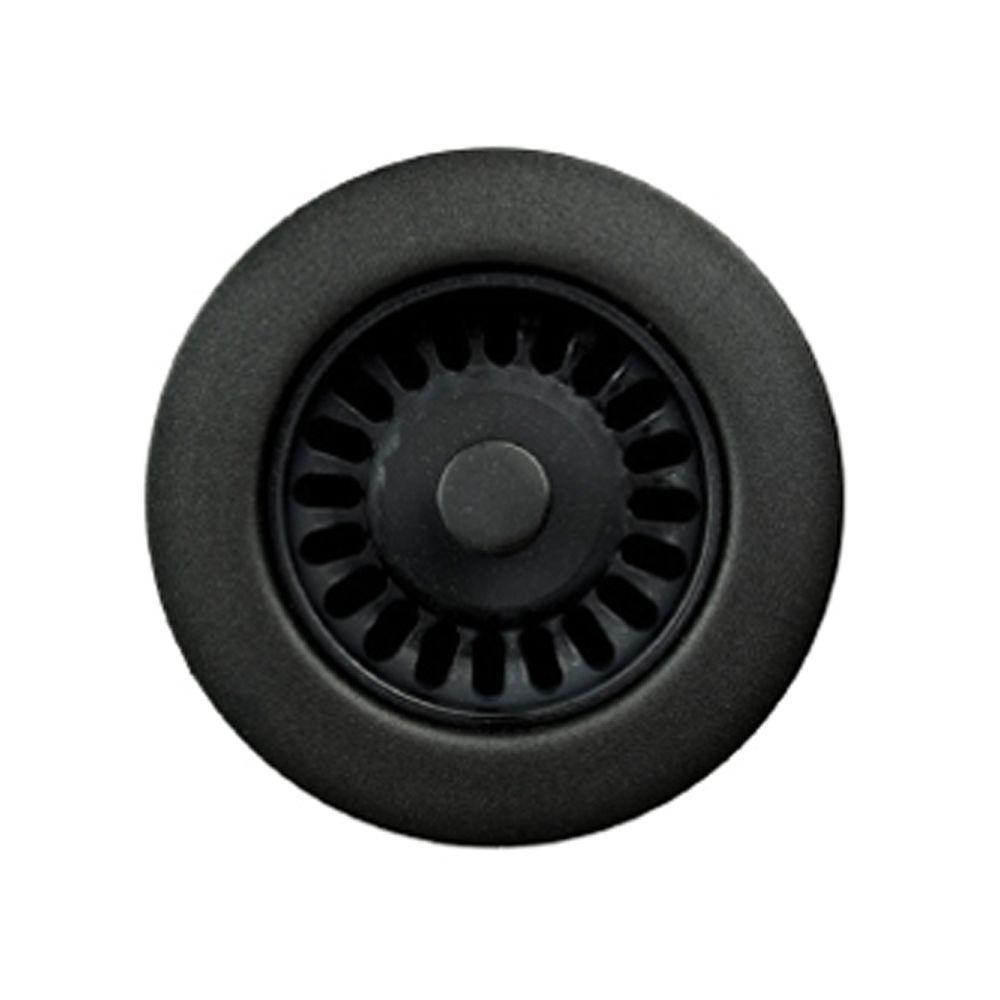 3.5 in. Opening Matte Black Disposal Flange