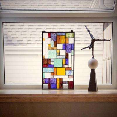 Multi Stained Glass Mod Collage Window Panel