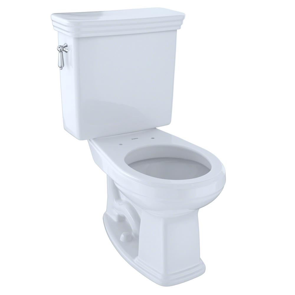 TOTO Promenade 2-Piece 1.6 GPF Single Flush Round Toilet with ...