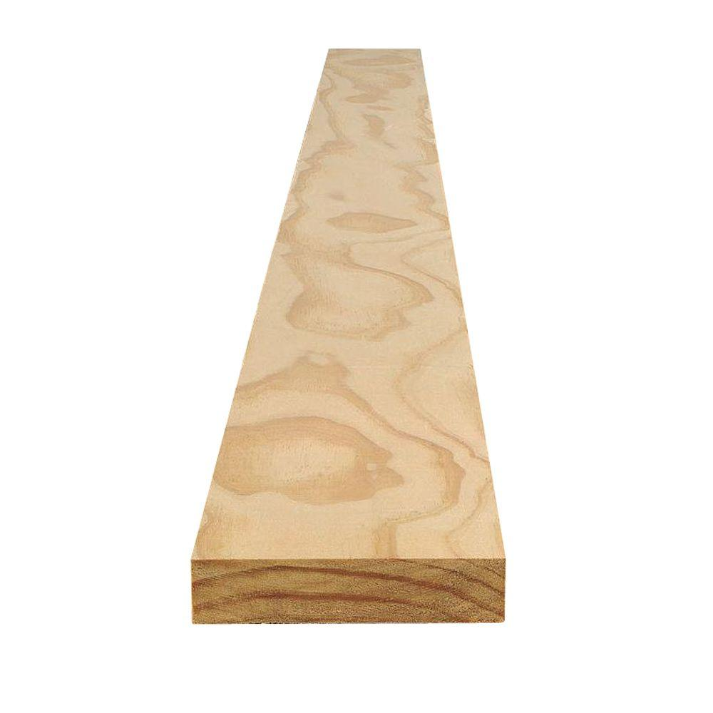 Claymark 5/4 in. x 3 in. x 8 ft. Select Pine Board