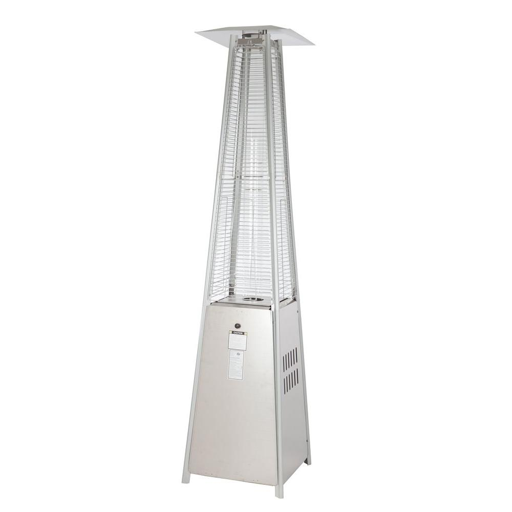 Fire Sense 40,000 BTU Stainless Steel Pyramid Propane Gas Patio Heater 60523    The Home Depot