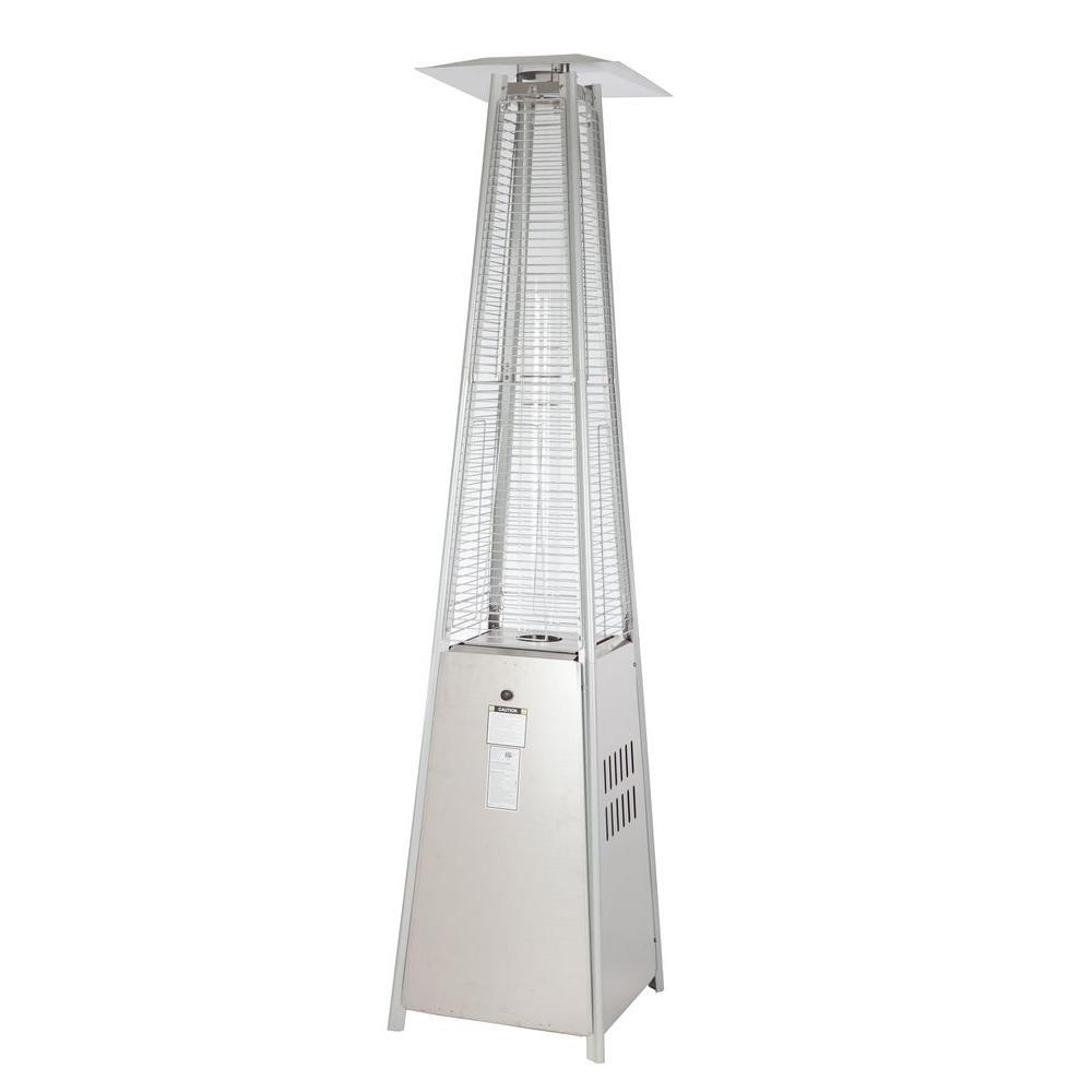40,000 BTU Stainless Steel Pyramid Propane Gas Patio Heater