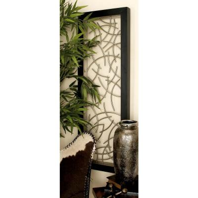16 in. x 48 in. Modern Abstract Iron Twigs Wall Decor