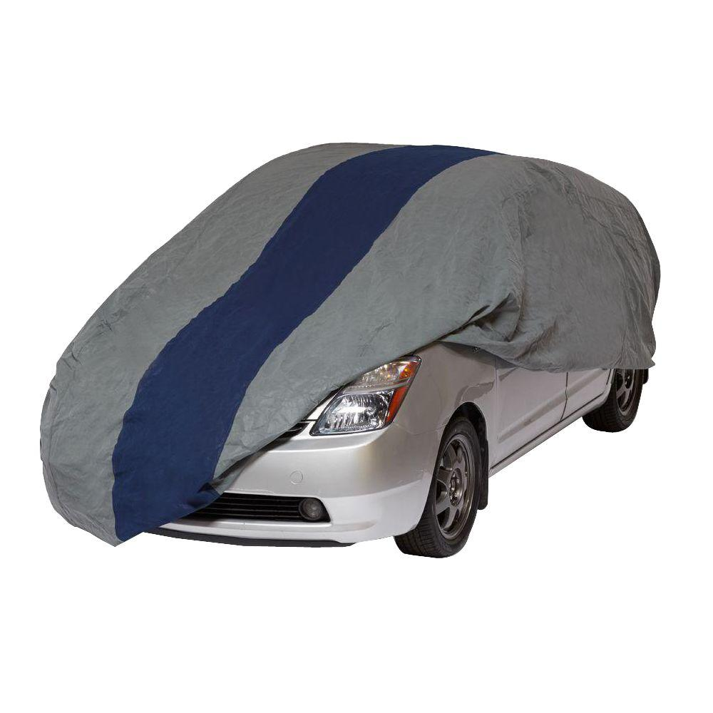 DuckCovers Duck Covers Double Defender Hatchback Semi-Custom Car Cover Fits up to 15 ft. 2 in., Gray