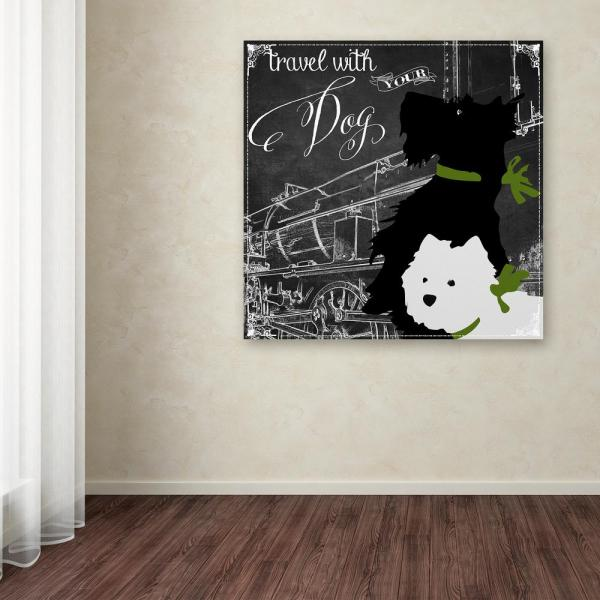 Trademark Fine Art 35 in. x 35 in. ''Travel With Your