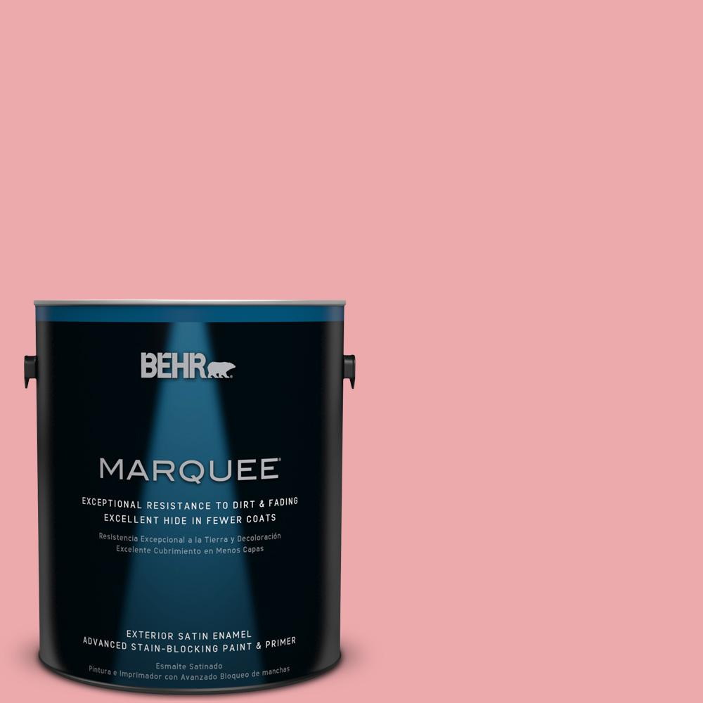 BEHR MARQUEE 1-gal. #140C-3 Hibiscus Petal Satin Enamel Exterior Paint