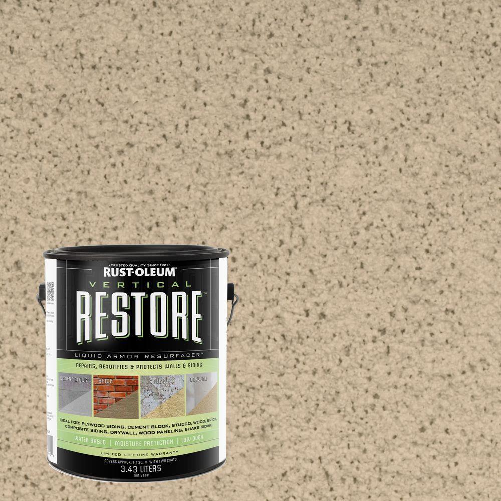 Rust-Oleum Restore 1-gal. Rattan Vertical Liquid Armor Resurfacer for Walls and Siding