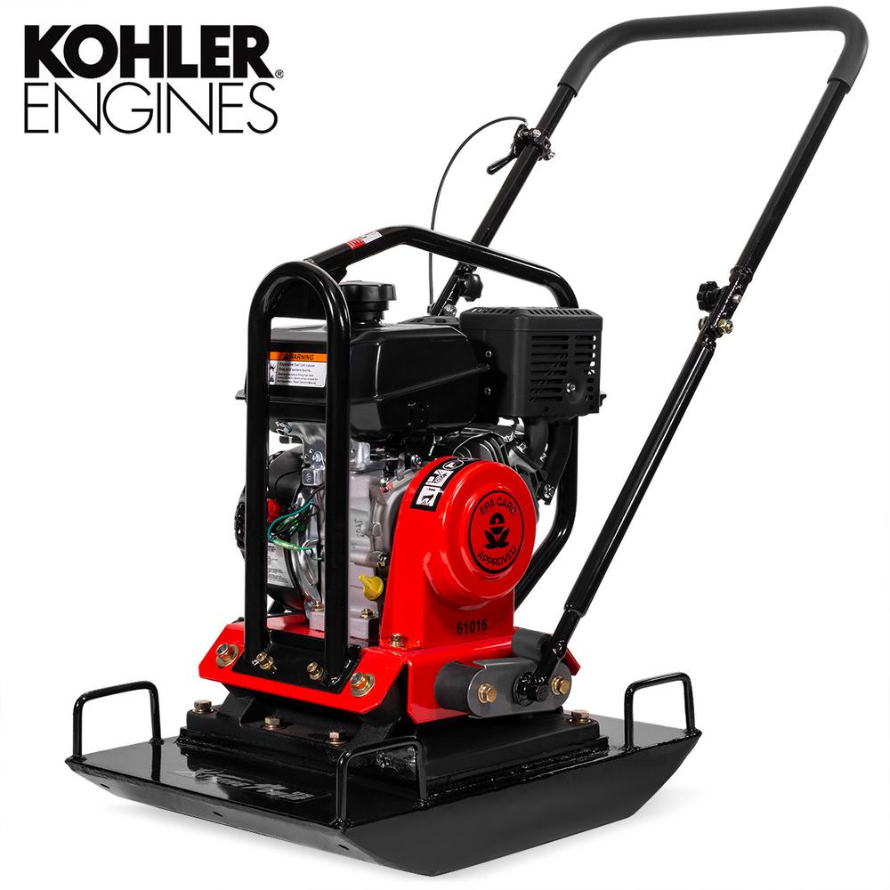 XtremepowerUS 6 HP 208 cc Kohler Gas Engine Reversible Walk-Behind Vibratory Plate Compactor 4500 lbs Compaction Force