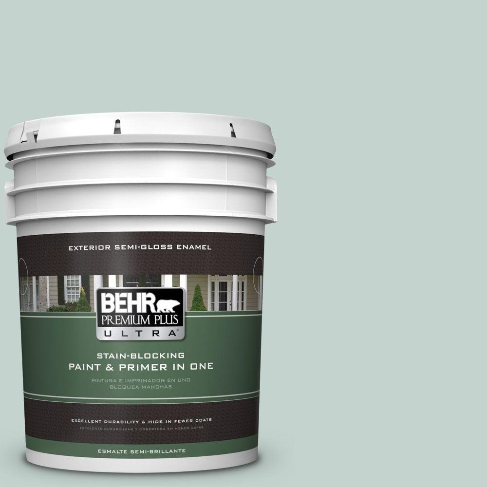 5 gal. #N430-2 Nature's Reflection Semi-Gloss Enamel Exterior Paint