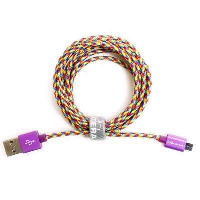 6 ft. Rainbow USB 2.0 A to Micro USB Braided Cable