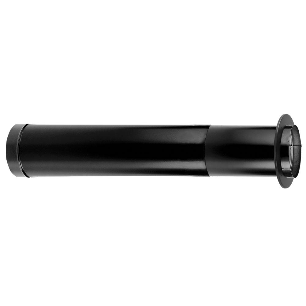 DuraVent DuraBlack 6 in. x 44 in. x 68 in. Telescoping Chimney Stove Pipe with Trim