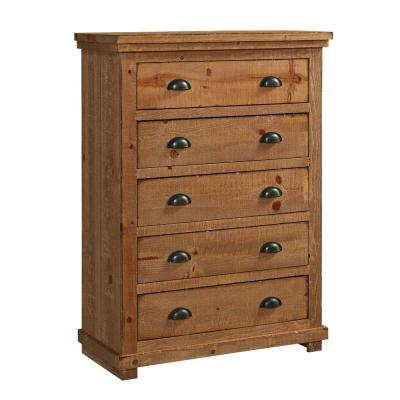 Willow 5-Drawer Distressed Pine Chest