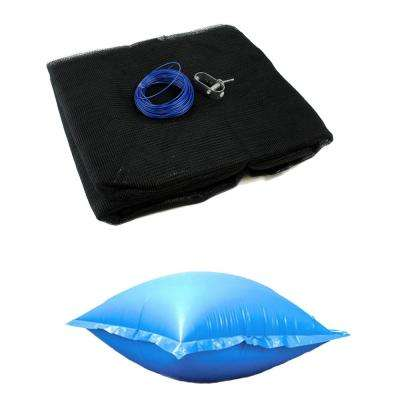 18 ft. Round Above Ground Pool Leaf Net Cover and Winter Closing Air Pillow