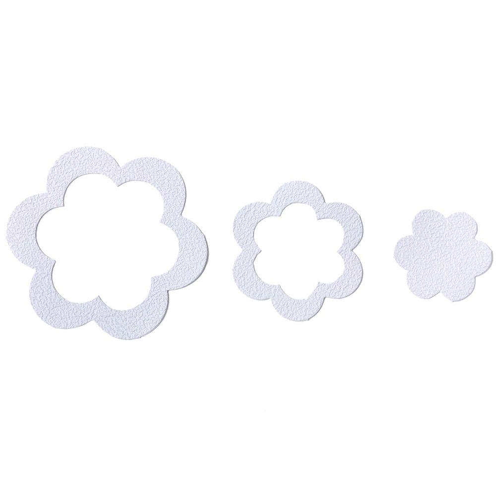 SlipX Solutions Adhesive Flower Treads in White (21-Count)