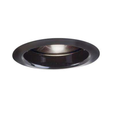 6 in. Black Recessed Ceiling Light Baffle Air-Tite Super Trim