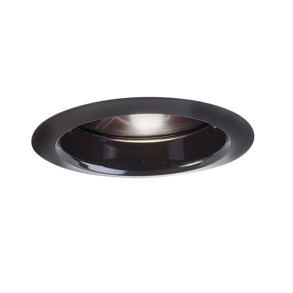 6 in. Black Recessed Ceiling Light Baffle Air-Tite Super Trim