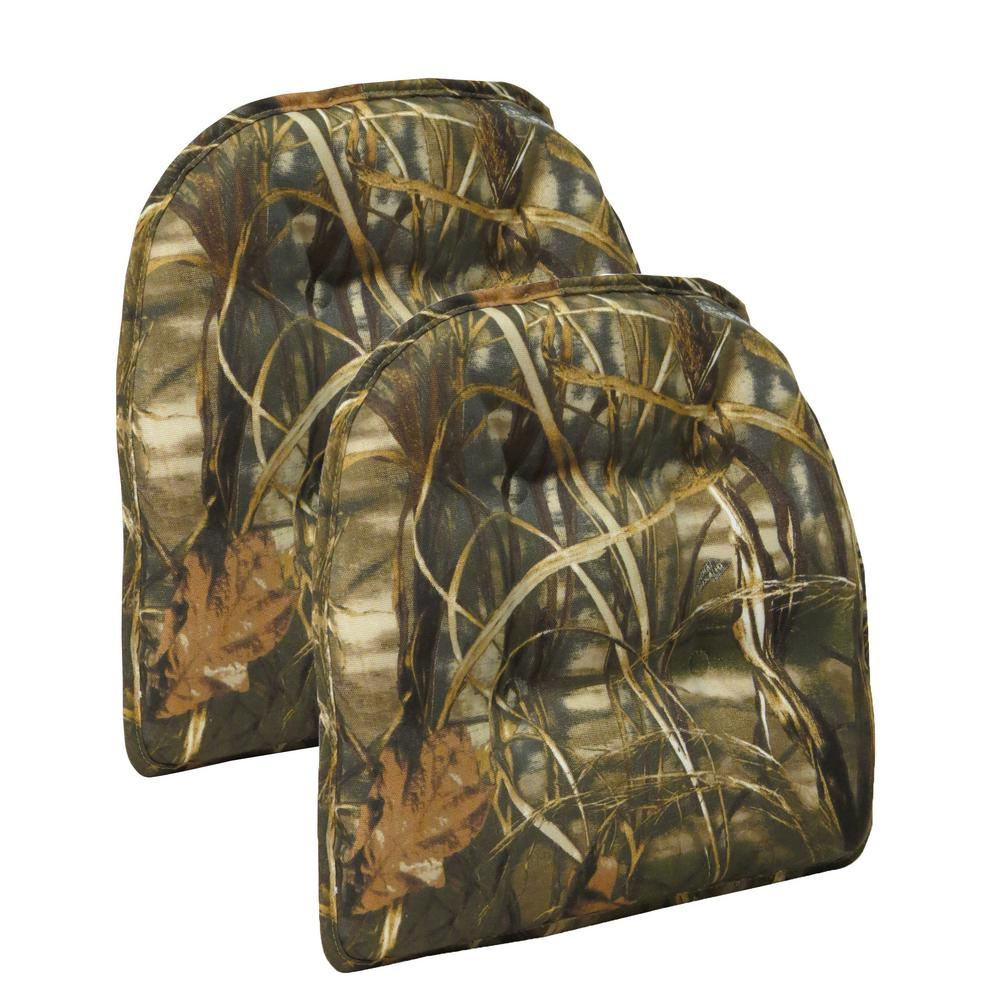 Gripper Realtree Camouflage Tufted Chair Cushion Set Of 2