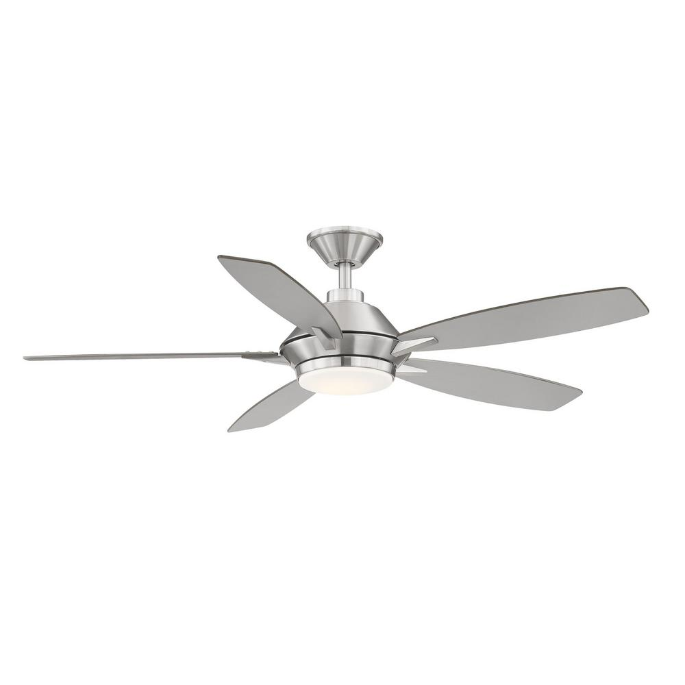 Home Decorators Collection Wilmington 52 in. LED Brushed Nickel Ceiling Fan with Light