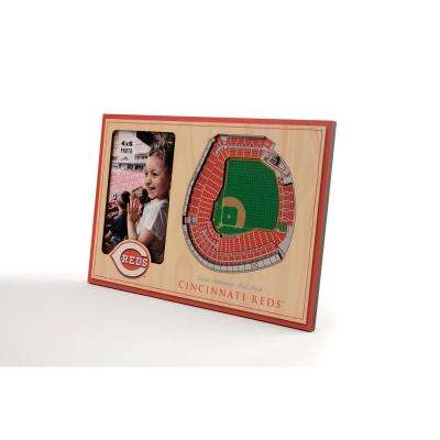 MLB Cincinnati Reds Team Colored 3D StadiumView with 4 in. x 6 in. Picture Frame